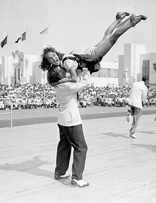 Photograph - Hepcats James Brennan And Tessie Fekan by New York Daily News Archive