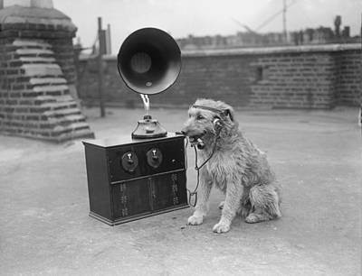 His Masters Voice Art Print by Fox Photos