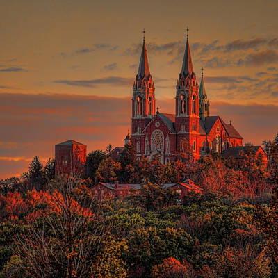 Photograph - Holy Hill Sunrise Square by Dale Kauzlaric