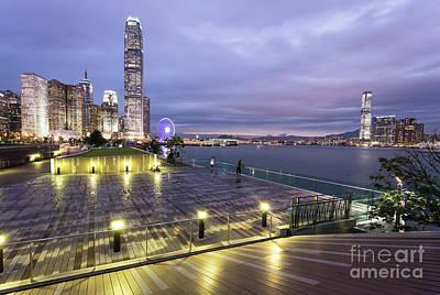 Photograph - Hong Kong Twilight by Didier Marti