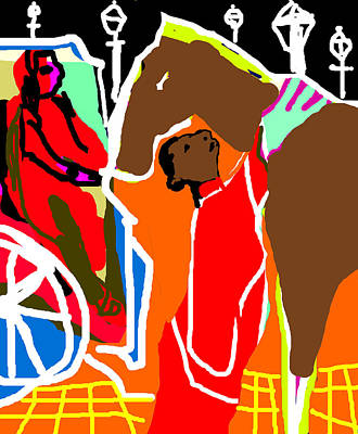 Digital Art - Horse And Carriage by Artist Dot