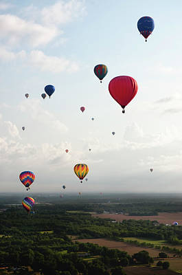 Photograph - Hot Air Balloon Festival, Aerial by Jim Mckinley