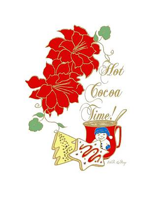 Belinda Landtroop Royalty-Free and Rights-Managed Images - Hot Cocoa Time by Belinda Landtroop