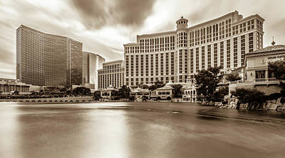 Photograph - Hotels And City Skyline In Las Vegas Nevada by Alex Grichenko