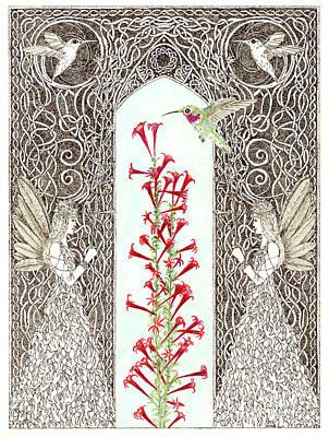 Painting - Hummingbird Sanctuary by Lise Winne