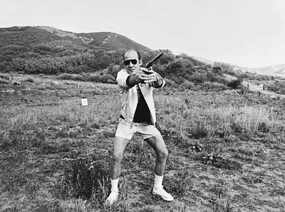 Black And White Photograph - Hunter S. Thompson by Michael Ochs Archives