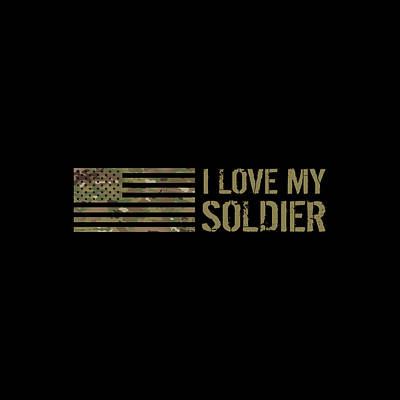 Abstract Works - I Love My Soldier by Jared Davies