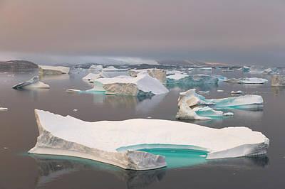 Photograph - Icebergs Antarctic Peninsula by Eastcott Momatiuk