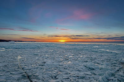 Photograph - Icy Sunset by Gary McCormick