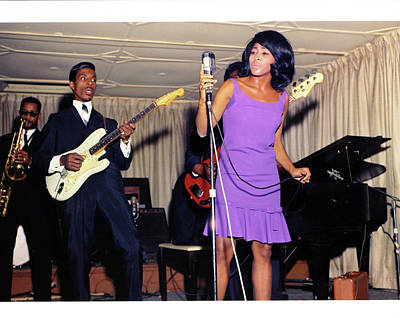 Photograph - Ike & Tina Turner Revue Perform by Michael Ochs Archives