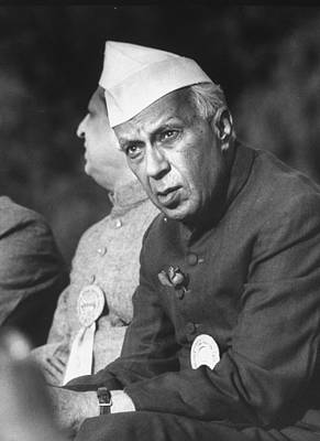 Photograph - Indian Prime Minister Jawaharlal Nehru by Larry Burrows