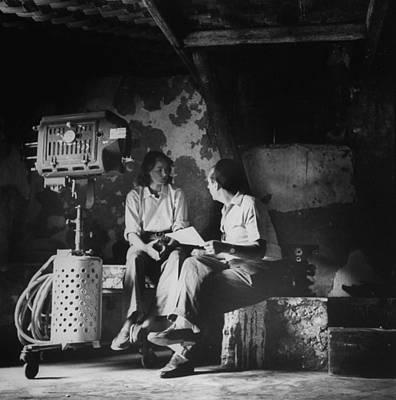 Photograph - Ingrid Bergmanroberto Rossellini by Gordon Parks