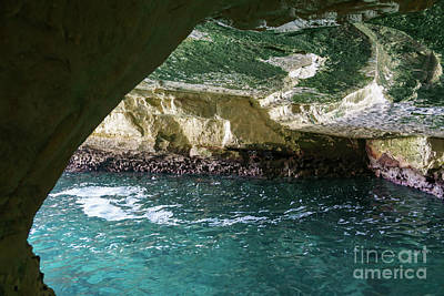 Photograph - Inside The Littoral Cave At Rosh Hanikra Grottoes In Northern Is by William Kuta