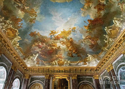 Reptiles - Interior Ceilings Amazing Paintings Palace of Versailles Paris France by Wayne Moran