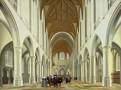 Painting - Interior Of Saint Bavo, Haarlem by Pieter Jansz Saenredam