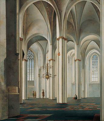 Painting - Interior Of The Buurkerk, Utrecht by Pieter Jansz Saenredam