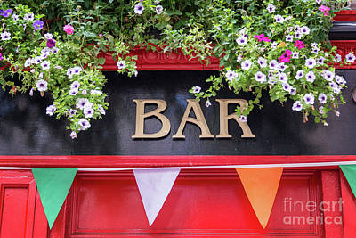 Beer Royalty-Free and Rights-Managed Images - Irish bar in Dublin by Delphimages Photo Creations