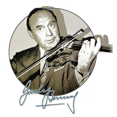 Digital Art Royalty Free Images - Jack Benny Royalty-Free Image by Greg Joens