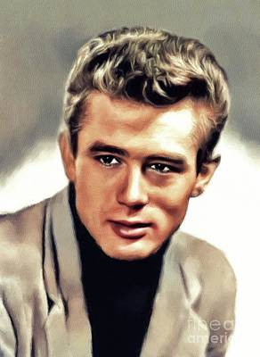 Actors Royalty-Free and Rights-Managed Images - James Dean, Hollywood Legend by John Springfield