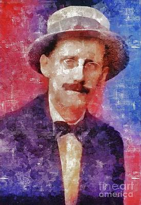 Royalty-Free and Rights-Managed Images - James Joyce, Literary Legend by Esoterica Art Agency