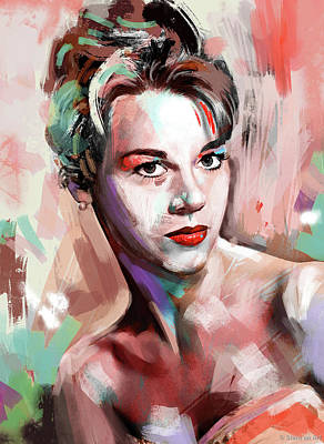 Whimsical Flowers - Jane Fonda by Stars on Art