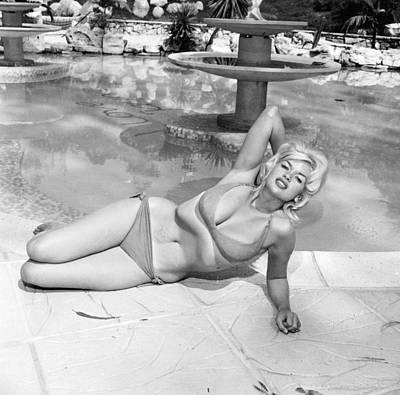 Photograph - Jayne Mansfield In Bikini by Hulton Archive
