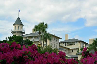 Photograph - Jekyll Island Club Hotel And Azaleas by Bruce Gourley
