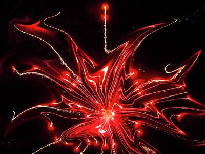 Photograph - Jeu De Lumiere Rouge by Jorg Becker