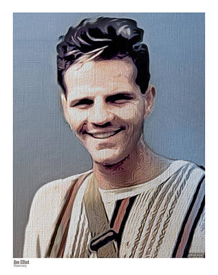 Digital Art - Jim Elliot by Greg Joens