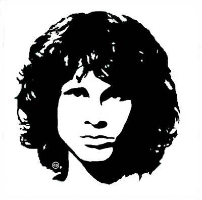 Wall Art - Digital Art - Jim Morrison by Digital Painting