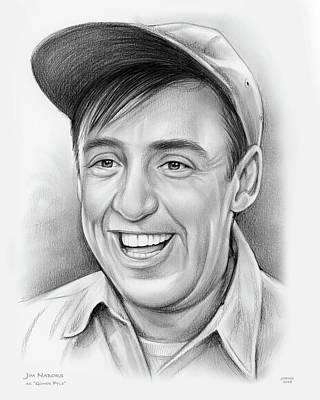 Drawings Royalty Free Images - Jim Nabors Royalty-Free Image by Greg Joens