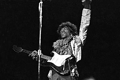 Photograph - Jimi At Monterey by Michael Ochs Archives