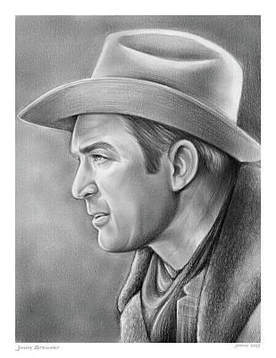 Drawings - Jimmy Stewart by Greg Joens