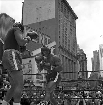 Photograph - Joe Frazier Sparring Session by Donaldson Collection