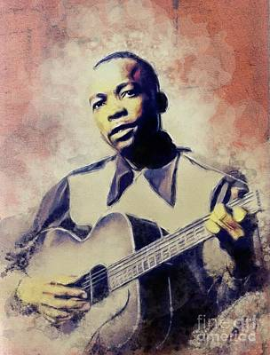 Jazz Royalty-Free and Rights-Managed Images - John Lee Hooker, Music Legend by John Springfield
