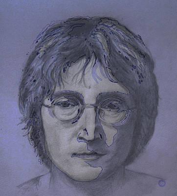 Wall Art - Digital Art - John Lennon Re-imagined by Digital Painting