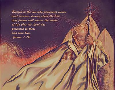 Digital Art - John Paul II In The Wind by David Bader