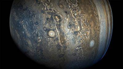 Painting - Jupiter S Stunning Southern Hemisphere by Celestial Images