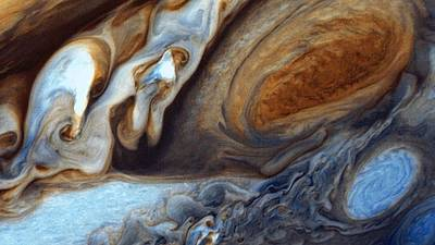 Painting - Jupiter's Great Red Spot As Viewed By Voyager 1 by Celestial Images