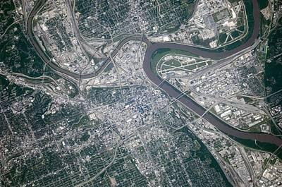 Painting - Kansas City Metropolitan Area by Celestial Images