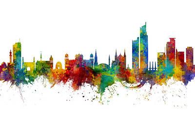Digital Art - Karachi Pakistan Skyline by Michael Tompsett