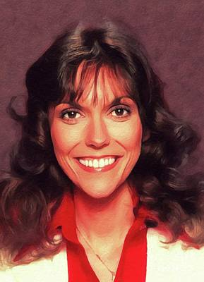 Music Paintings - Karen Carpenter, Music Legend by Esoterica Art Agency