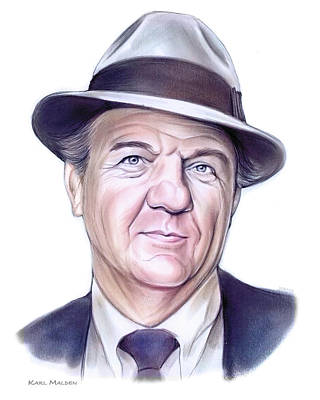 States As License Plates - Karl Malden by Greg Joens