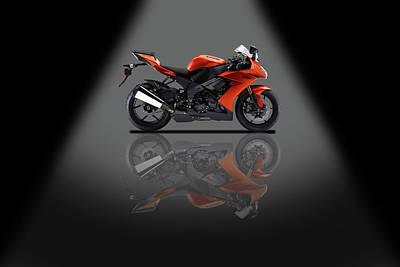 Mixed Media - Kawasaki Ninja Zx 10r Sport Spotlight by Smart Aviation