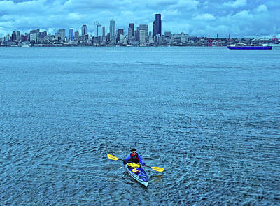 Photograph - Kayaking Elliot Bay by Allen Beatty