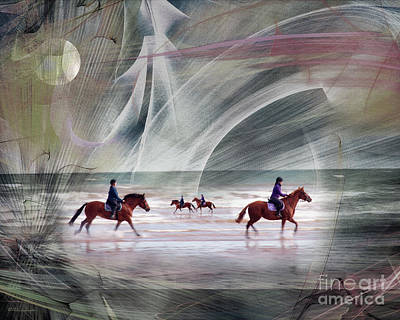 Digital Art - Keeping A Tight Rein by Edmund Nagele