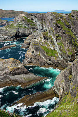 Portmagee Wall Art - Photograph - Kerry Cliffs Seven by Bob Phillips
