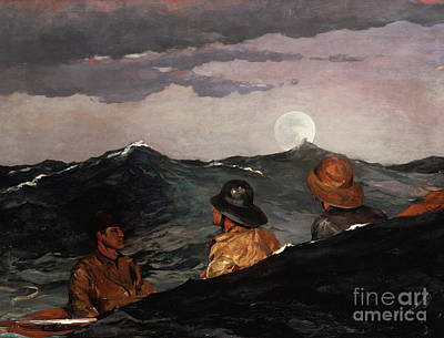 Painting - Kissing The Moon, 1904 by Winslow Homer