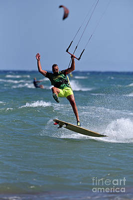 Photograph - Kite Surfing On A Windy Day by George Atsametakis