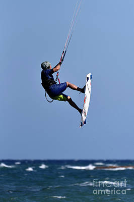 Photograph - Kite Surfing On A Windy Day II by George Atsametakis